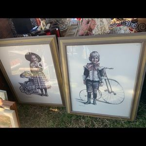 joanne thompson paintings girl & boy framed decor